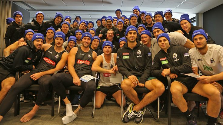What an HONOUR to have the great Neale Daniher speak to us. We're #sidebyside with you Neale #FreezeMND. Donate http://freezemnd.com. It's a great cause, Good on you Collingwood