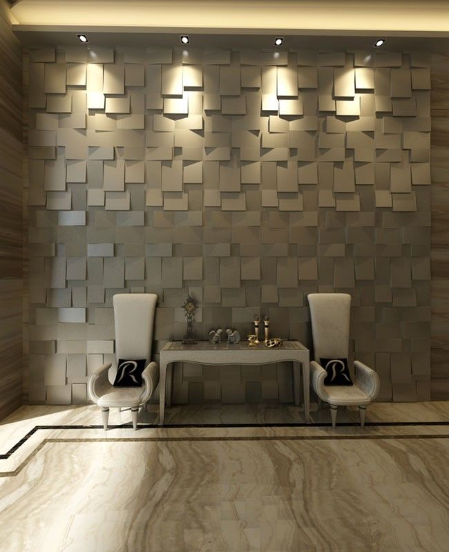 Cubes Design 3D Glue On Wall Panel