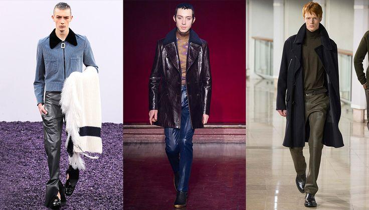 Tendances mode de l'automne-hiver 2015-2016 : Le pantalon en cuir