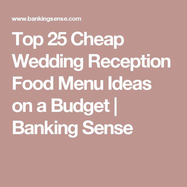 Simple Wedding Food Ideas: Best 20+ Cheap Wedding Food Ideas On Pinterest