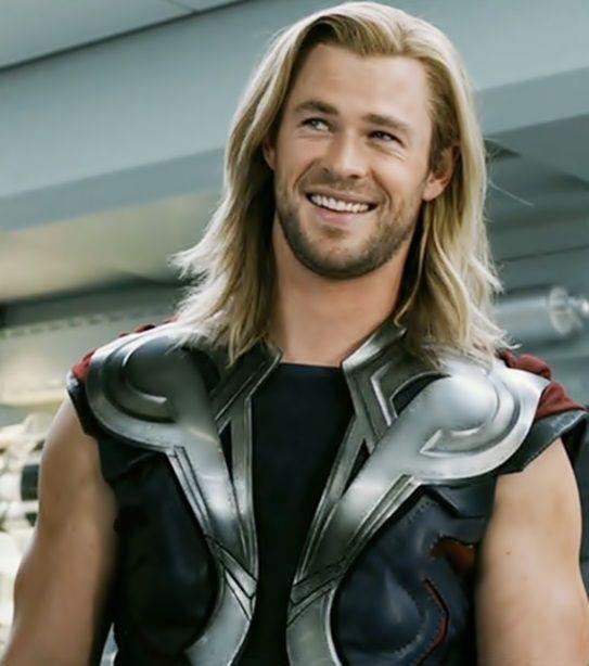 Chris Hemsworth. not a fan of his long hair but still ...