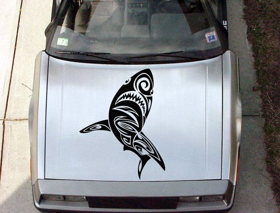 Best Shark Tribal Vinyl Sticker Images On Pinterest Auto Vinyl - Best automobile graphics and patternsbest stickers on the car hood images on pinterest cars hoods