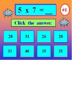 MULTIPLICATION FACTS POWERPOINT ONE...63 SLIDES IN ALL. INTERACTIVE & SELF-CORRECTING! Your students practice and reinforce their multiplication facts with this Powerpoint program that is self-correcting! Students must back up their answers TWICE before going to the next example. Colorful slides and graphics will hold their attention. Set 'em up and they're on their own. Did I say it was self-correcting?? Enjoy!