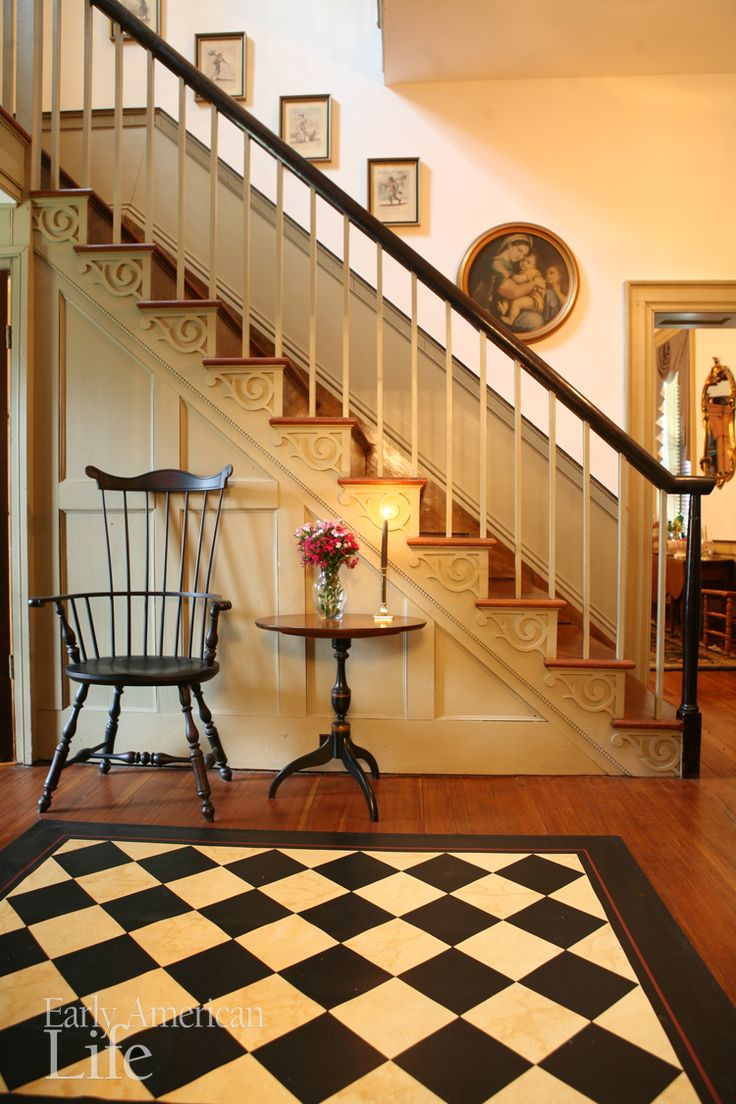 "Check out today's treat for #throwbackthursday! Max and Carol Sempowski could ""smell the history"" of this 1820s brick Federal in Virginia when they stepped inside. We're sharing a favorite image and some extras that did not make it into the April 2012 issue. federal style 