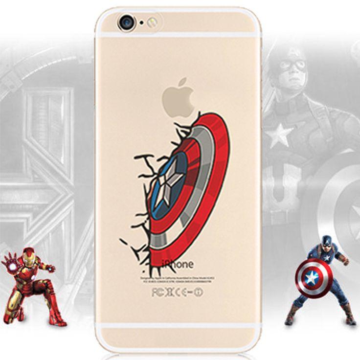 For iphone 5 Thor PHONE CASE Plastic Hard Painted Clear Captain America Iron Man Hulk phone cover coque FOR IPHONE 5 5S Funda Digital Guru Shop