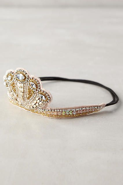 Sequined Circlet Crown - anthropologie.com