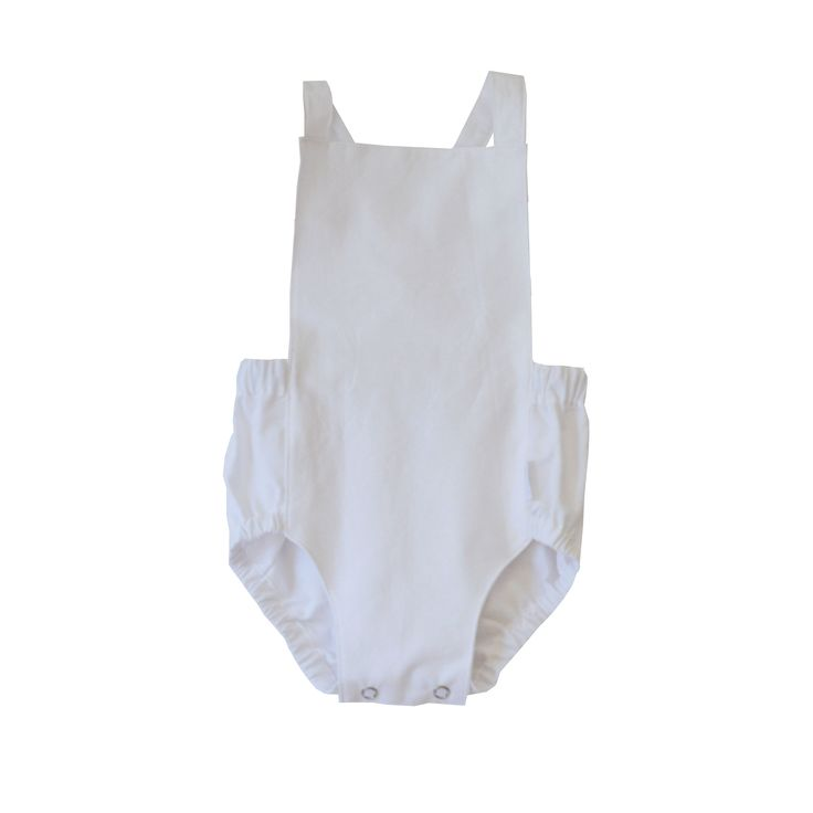 swell & solis Dune Romper - white Ethically made baby romper / jumpsuit / onesies
