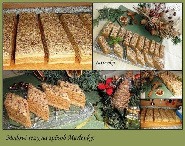 Medové rezy skoro ako Marlenka (fotorecept)