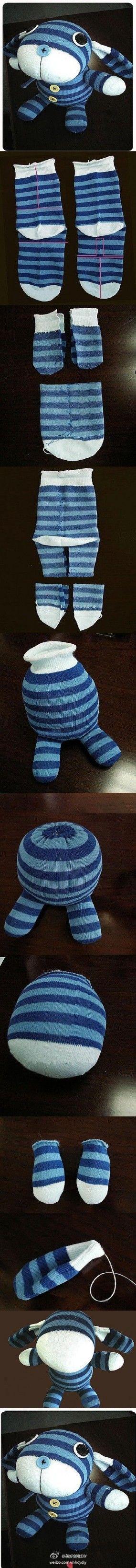 袜子娃娃diy~——更多有趣内容,请关注美好创…_来自Please叫我小明的图片分享