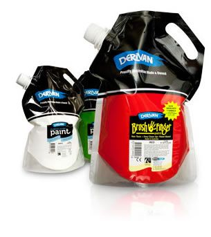 Easier To Pour Paint. This is wild. Anybody ever see this #pouch #packaging application? PD