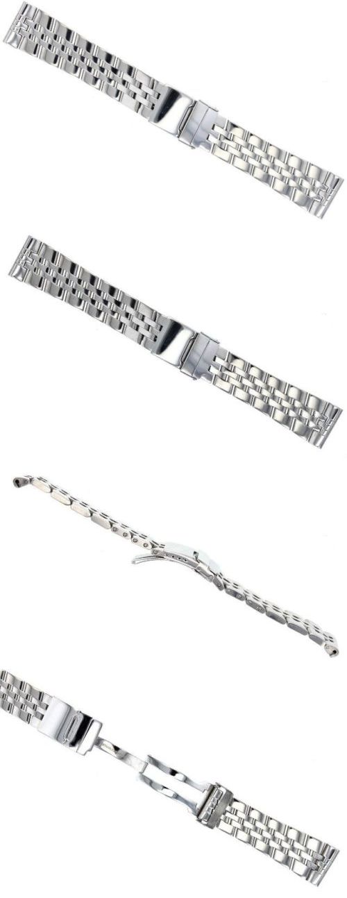 Other Watch Parts 10324: 22Mm Watch Band Bracelet Stainless Steel For Breitling Blackbird 5 Link Polish BUY IT NOW ONLY: $44.0