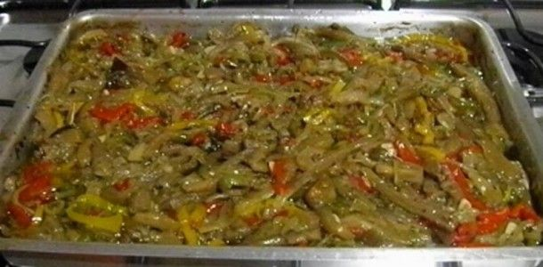 Antepasto de berinjela à italiana
