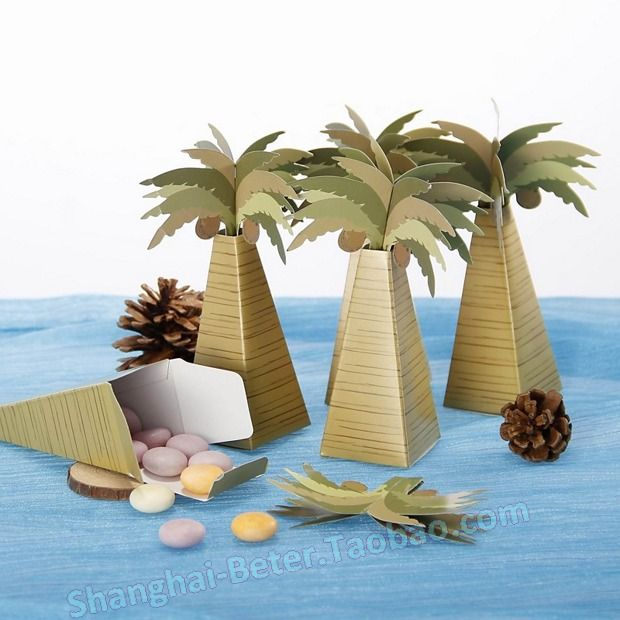 70 best taobao wedding favor boxes images on pinterest favors coconut tree design favor box comes in a set of 12 cute for the beach theme or destination wedding junglespirit Images