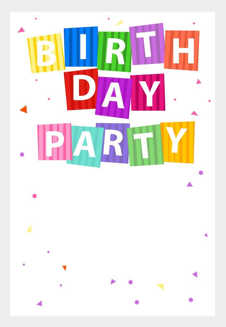 free printable party confetti invitation