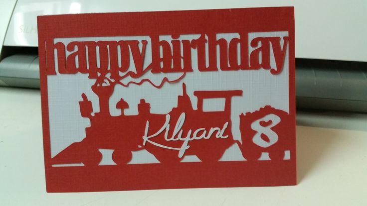 Verjaardagskaart 8ste verjaardag van zoonlief  (2 store bestanden gecombineerd en moeten aanpassen om ze samen te kunnen gebruiken)