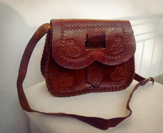 Tooled leather bag tooled leather shoulder bag by TaylorGirlsShop