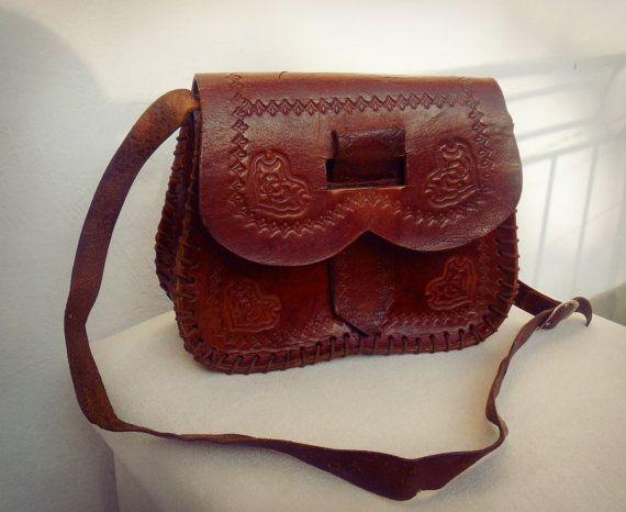 Tooled leather bag tooled leather shoulder bag by TaylorGirlsShop