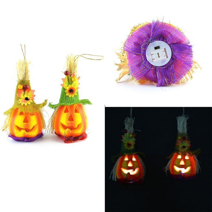 Led Pumpkin Lights Scarecrow Party Props Halloween Party Prop Ktv Bar Decor