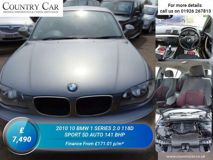 £7,490   2010 10 BMW 1 SERIES 2.0 118D SPORT 5D AUTO 141 BHP Finance From £171.01 p/m* #BMW #cars #luxurycars #supercars #1series #bmwowners #countrycar #car #dealership #deals #porsche #5D #youtube #carsofinstagram