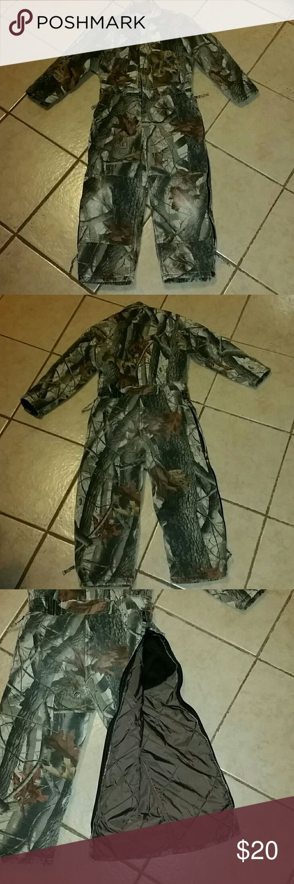 Youth Camo Coveralls Walls Youth Camo Coveralls. Worn but still lots of life left. My daughter outgrew this this hunting season. Youth size 10. Zips up or down legs Walls Jackets & Coats