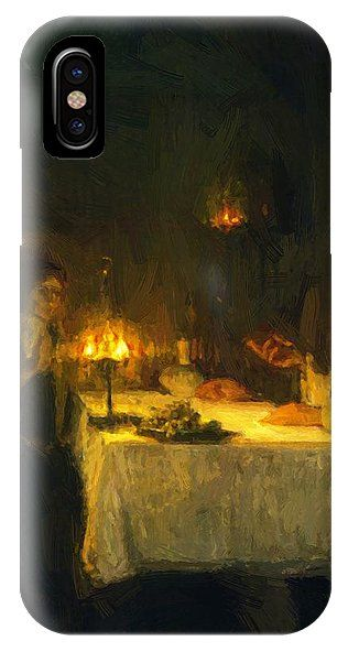 Christ IPhone X Case featuring the painting Christ At The Home Of Mary And Martha 1905 by Tanner Henry Ossawa