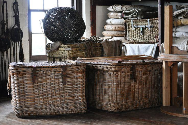 Old vintage baskets Luggage and nets by Georgina-Gibson.deviantart.com on @DeviantArt