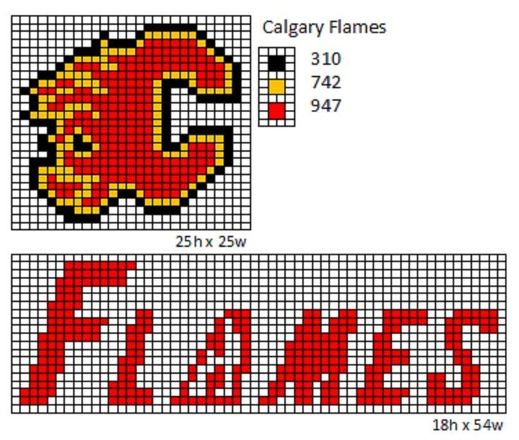 calgary flames perler beads - Google Search