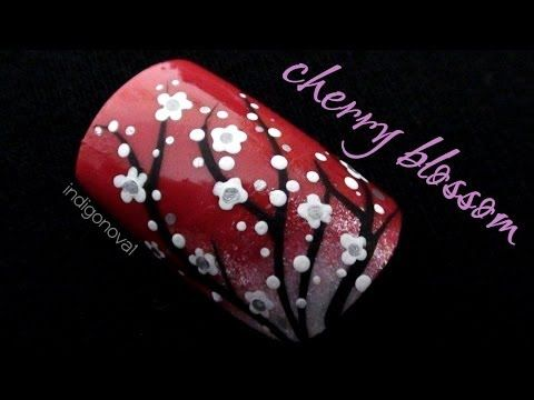 The 25 best cherry blossom nails ideas on pinterest spring nail cherry blossom nail art tutorial youtube prinsesfo Images