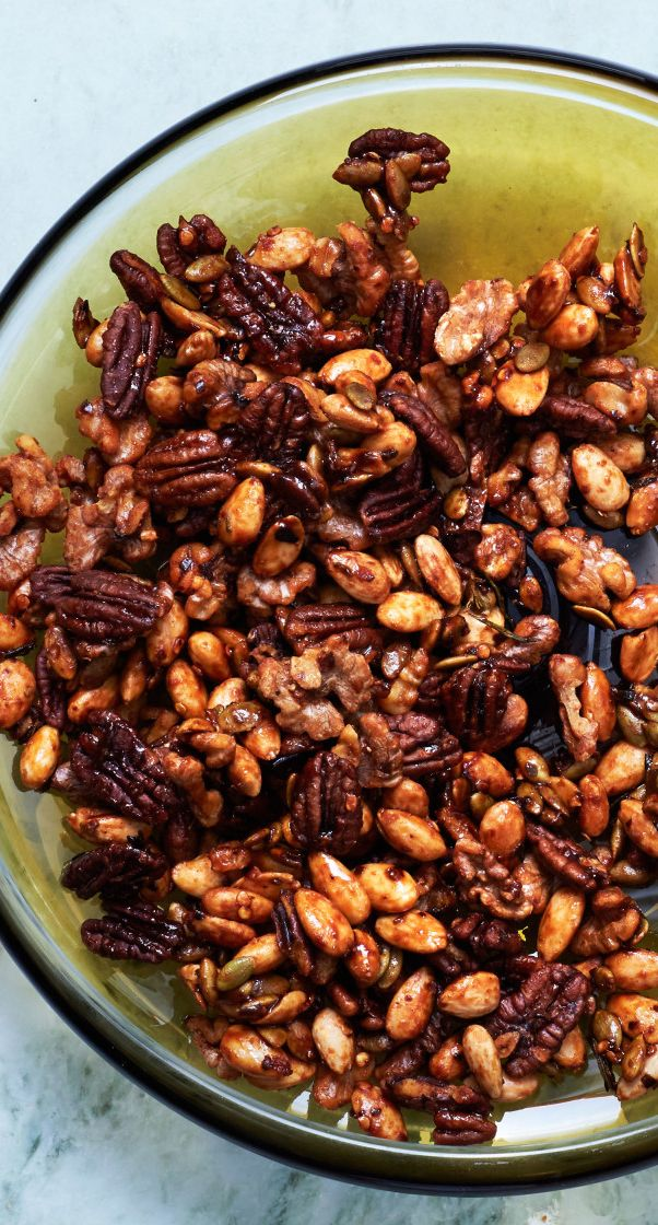 Sweet and spicy mixed nuts recipe: These are addictive.