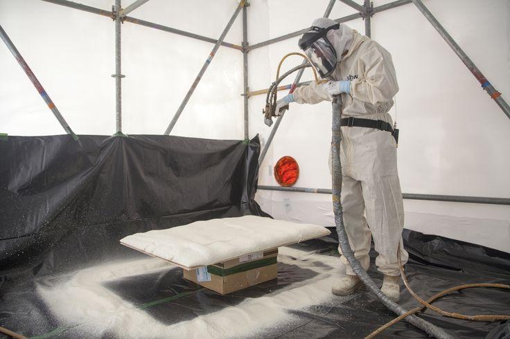 Zwevende vloeren maken kan ook met polyurethaanschuim als isolatiemateriaal