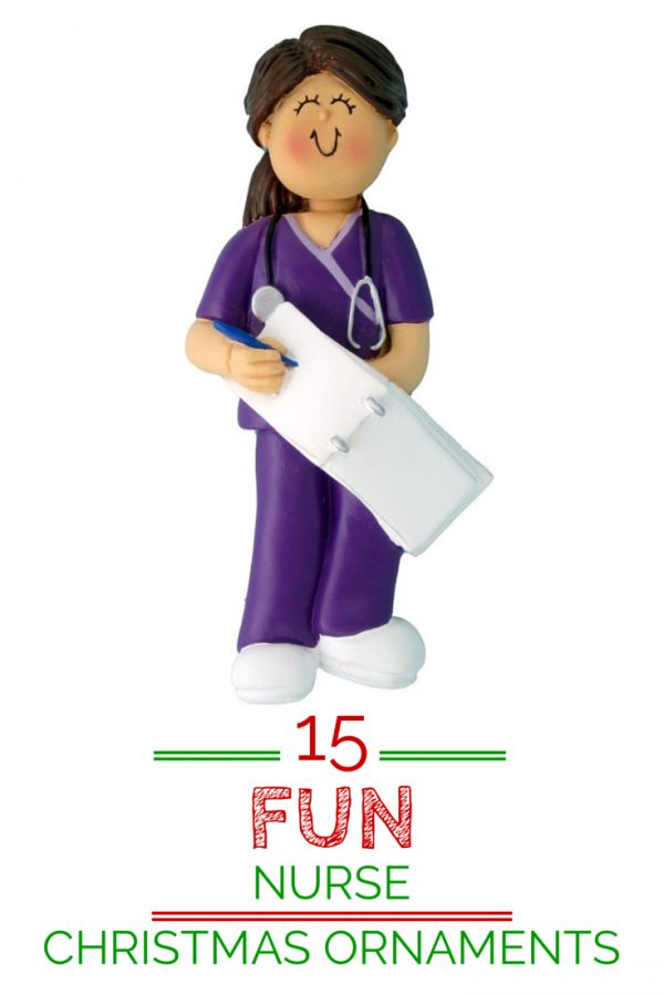 These cute Christmas ornaments would make AWESOME gifts for nurses!  15 Fun Nurse Christmas Ornaments