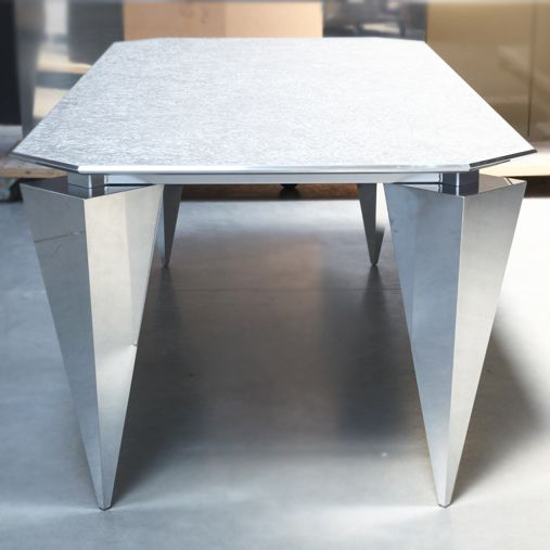 concrete table Copper table ALUMINIUM TABLE DESIGN JAN GRAD