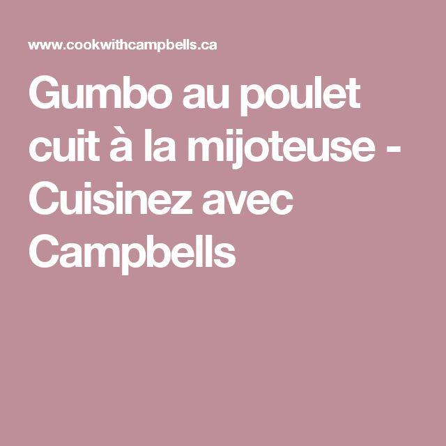 Gumbo au poulet cuit à la mijoteuse - Cuisinez avec Campbells