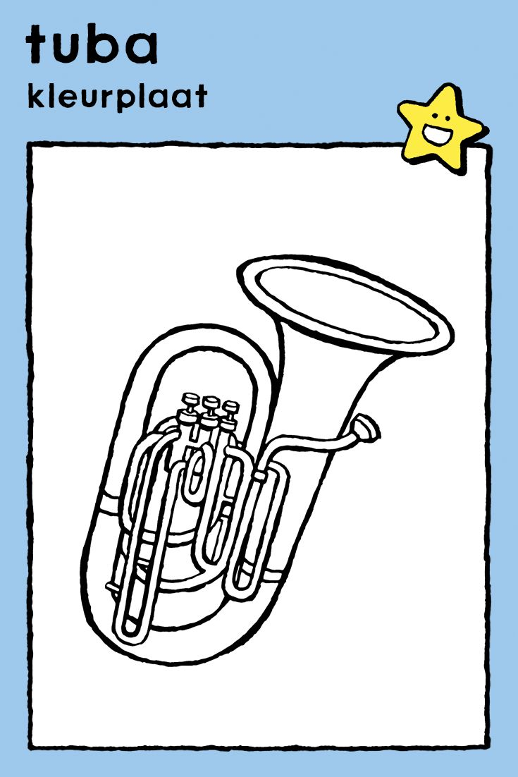 tuba coloring pages instruments