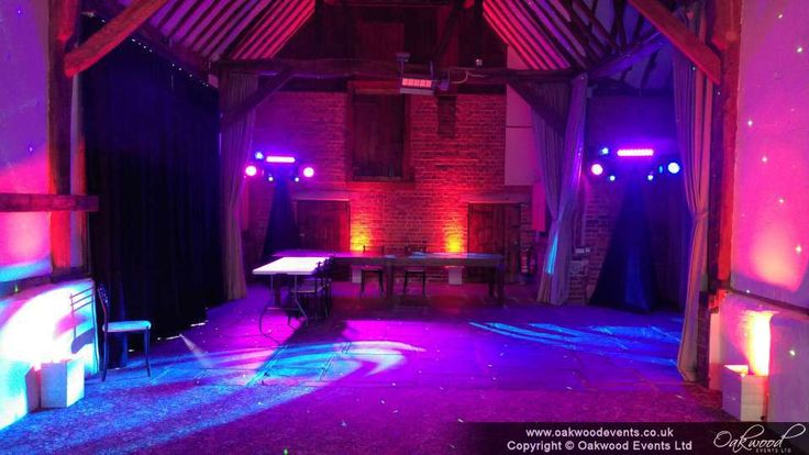 Disco lighting stands at Bix Manor for a spring wedding