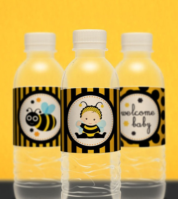 Bee Party See More Water Bottle Labels