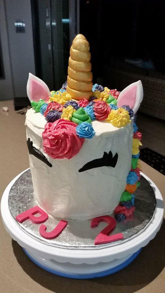 Unicorn Cake 2nd Birthday