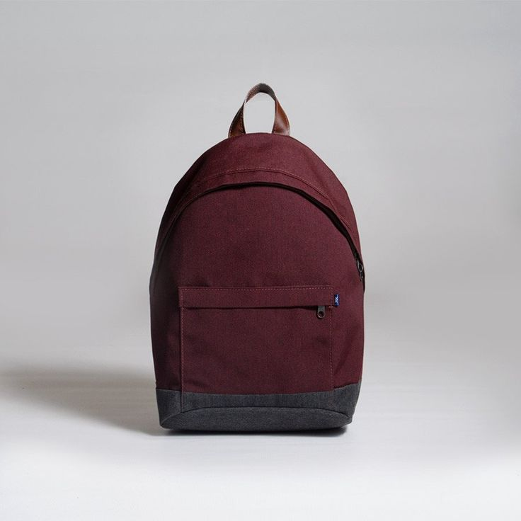 The Forge Daypack in black cherry by Mother Co. Made in Canada  - $119