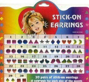 Stick-On Earrings!