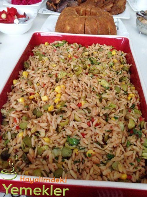 Arpa Şehriye Salatası | Resimli Yemek Tarifleri Hayalimdeki Yemekler