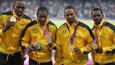 Usain Bolt, Yohan Blake, Michael Frater and Nesta Carter  London2012