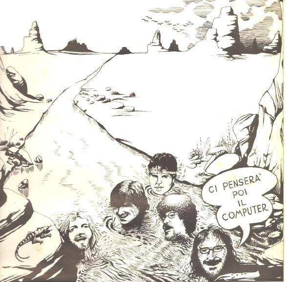 Augusto Daolio 1985 I Nomadi - Ci Penserà Poi Il Computer [Nomadi NOM-85701] #albumcover #Prog-Rock