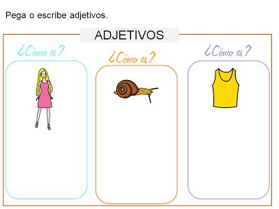 AUDICIÓN Y LENGUAJE: GRAMÁTICA ADAPTADA (CARTELES/ACTIVIDADES): EL ADJETIVO