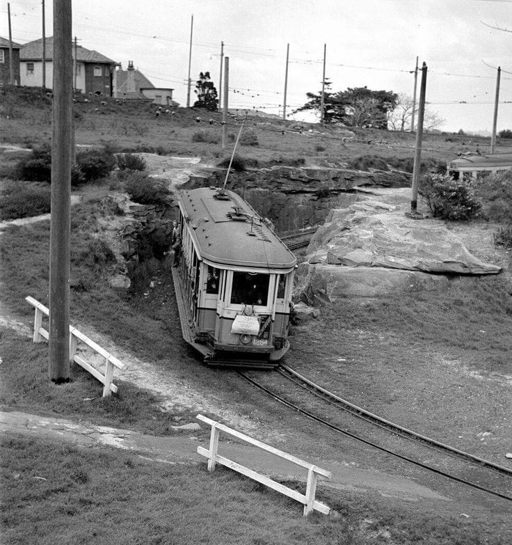 Watsons Bay in 1954. Trams Down Under Archive, http://tdu.to