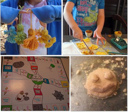 38 kid crafts: Crafts For Kids, 38 Kids, Crafts Ideas, Boredom Buster, Yarns Dolls, Kids Activities, Kids Crafts, Fun Crafts, Random Pin