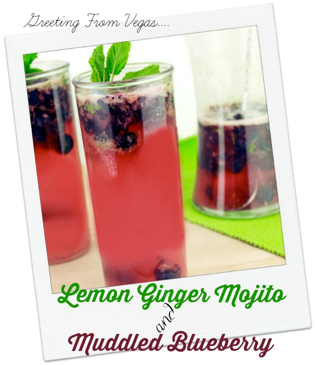 Lemon Ginger Mojito Recipe with Muddled Blueberry | Sassy Girlz Blog Lemon Ginger Mojito with Muddled Blueberry is made with Ginger Beer, Vodka and of course lemons... Cocktail Hour is here! Great party punch!