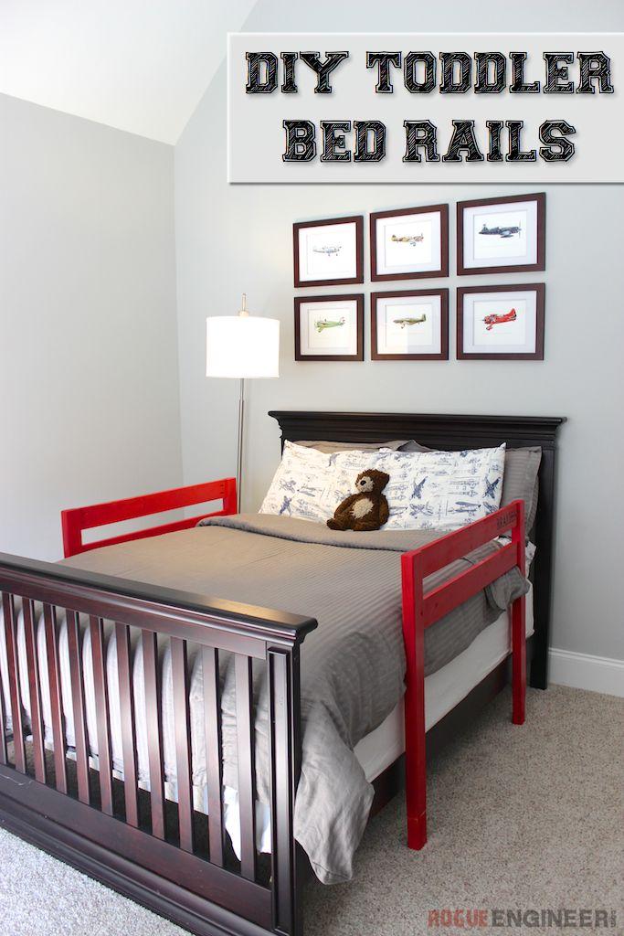DIY Toddler Bed Rail   Free Plans   rogueengineer.com #DIYchildsbedroom #babyandchildDIYplans