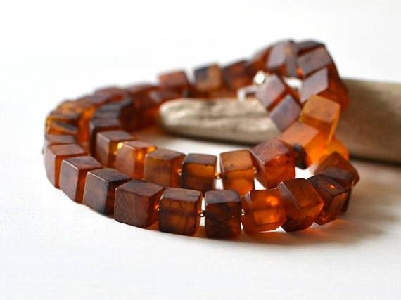 Baltic Amber Necklace Cube Amber Jewelry Geometric Necklace