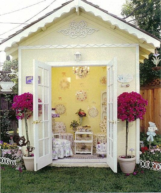 My Wonderful Backyard Teahouse.Photo By Dan Mayers For