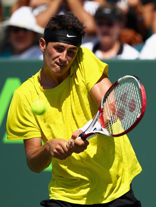 Bernard Tomic. my young and handsome (and Australian!) tennis player